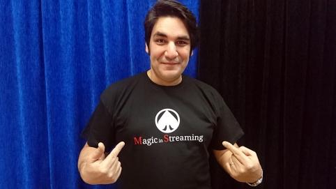 Tony Montana camiseta Magic In Streaming Negra